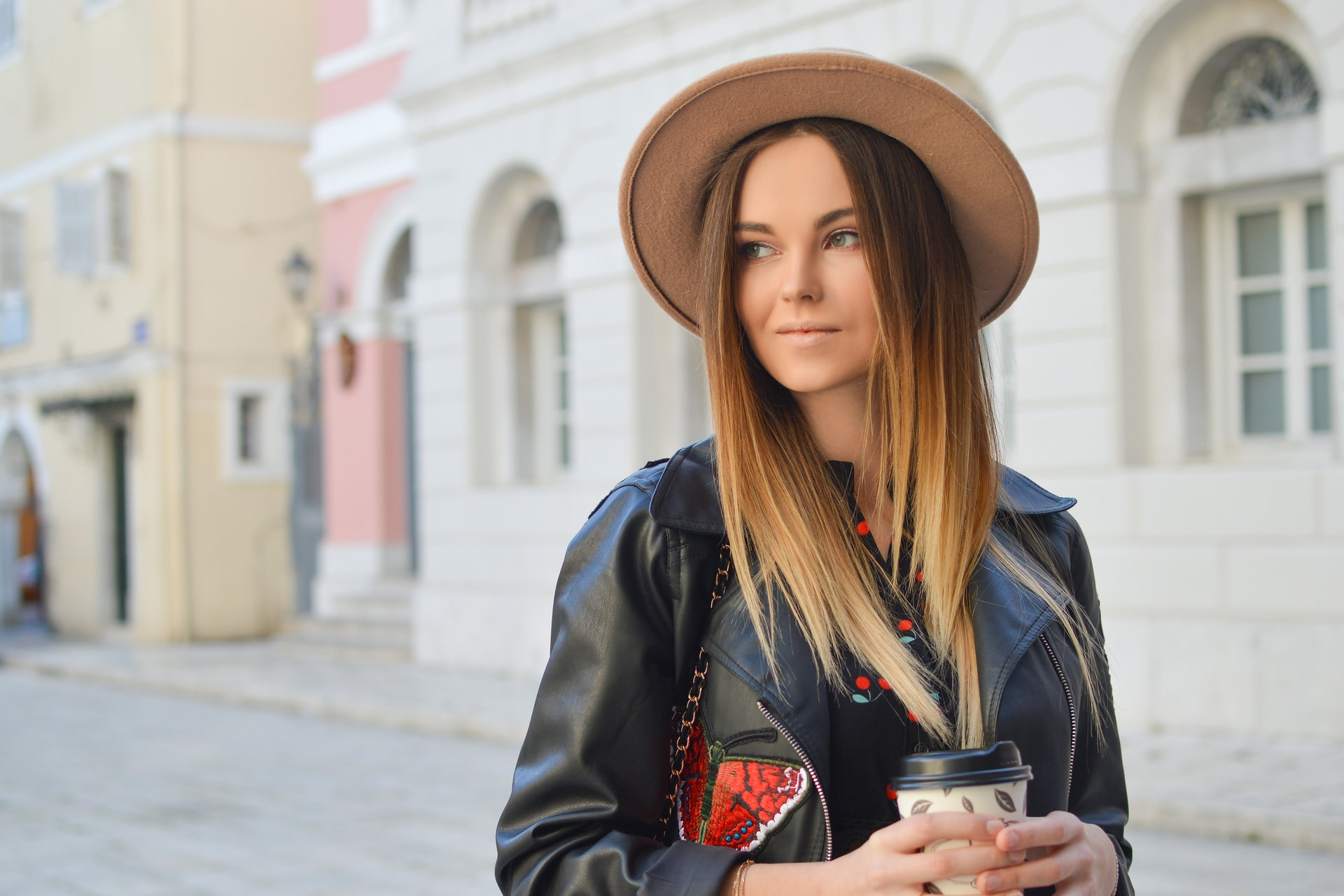 Russian stylish girl in hat