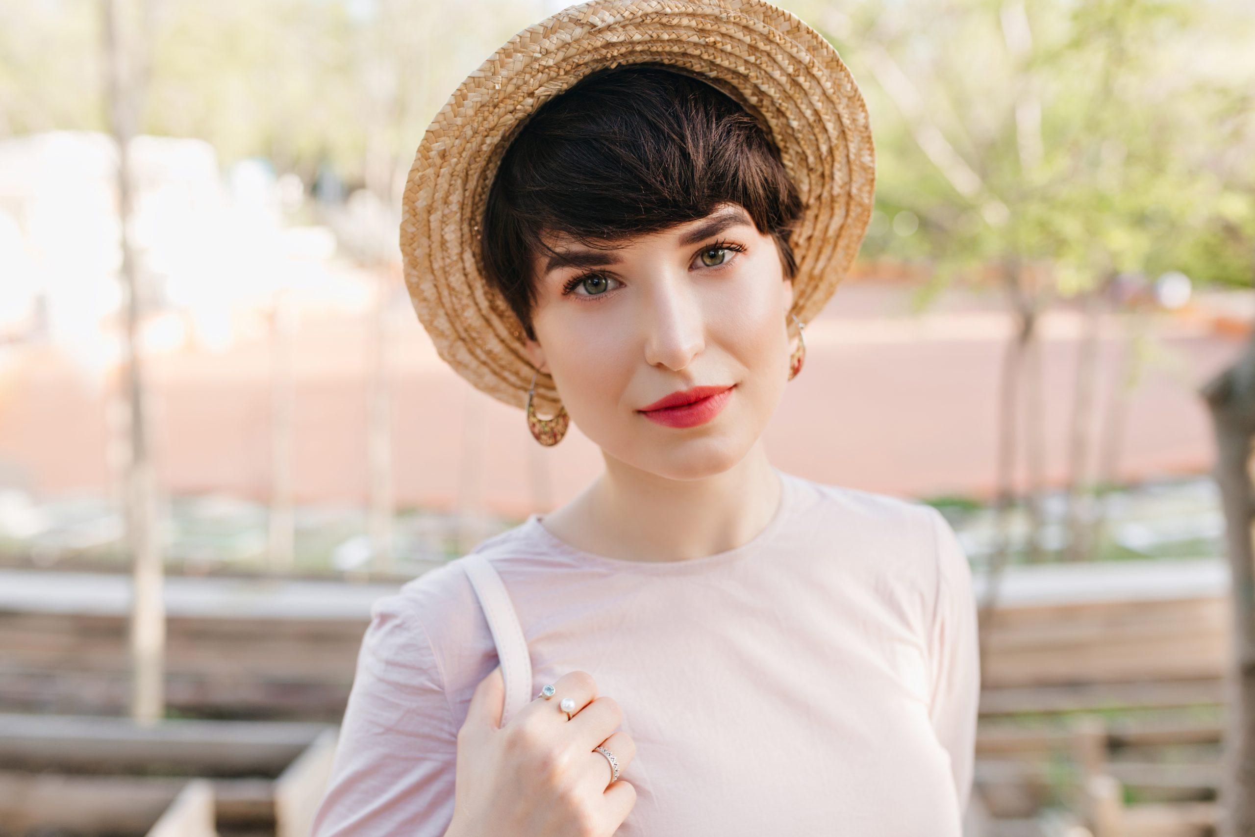 Ukrainian Wonderful young woman with big green eyes